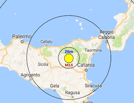 Terremoto Sicilia: scossa in provincia di Enna, paura e gente in strada