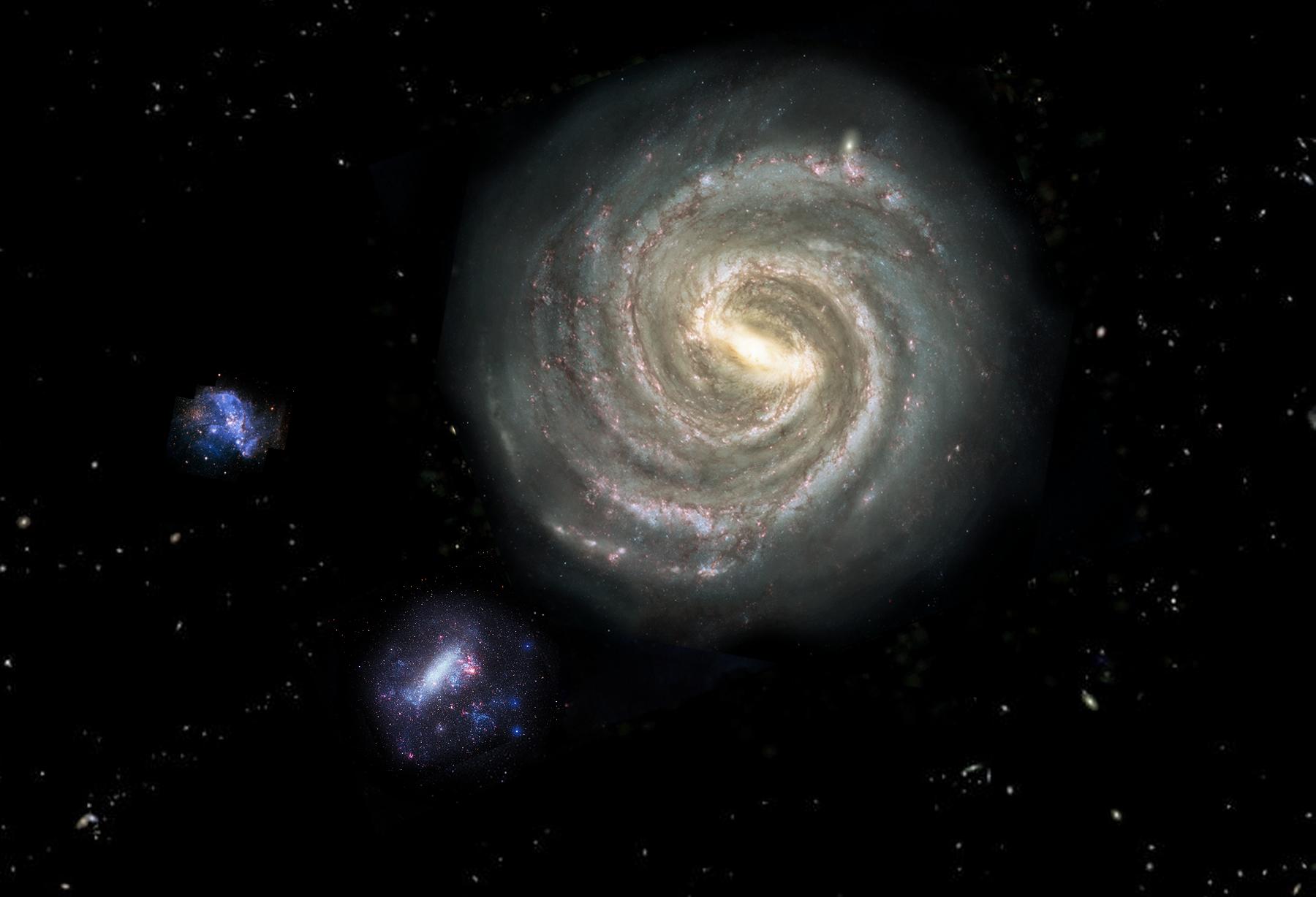 Spazio: ecco come la Via Lattea divorerà la Piccola Nube di Magellano