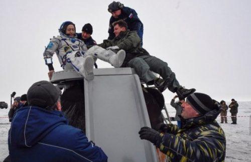 Tre astronauti tornati sulla terra a bordo della capsula Soyuz
