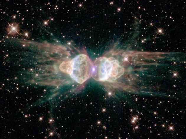 Spazio, emissione laser dalla Nebulosa Formica