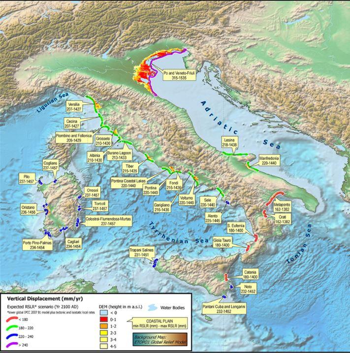 Erosione Italia: individuate sette nuove aree a rischio