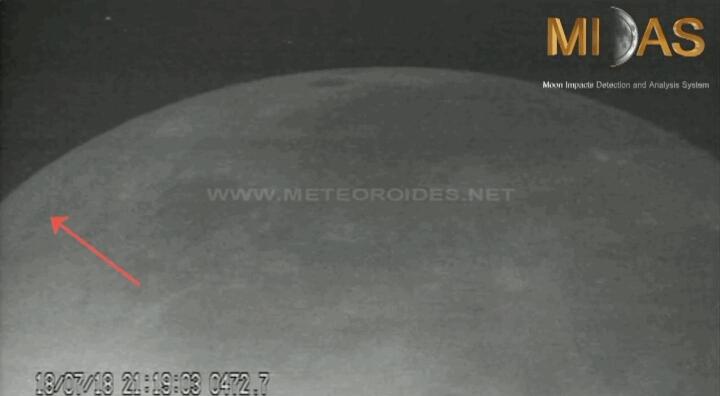 Luna colpita da due meteoroidi in poche ore