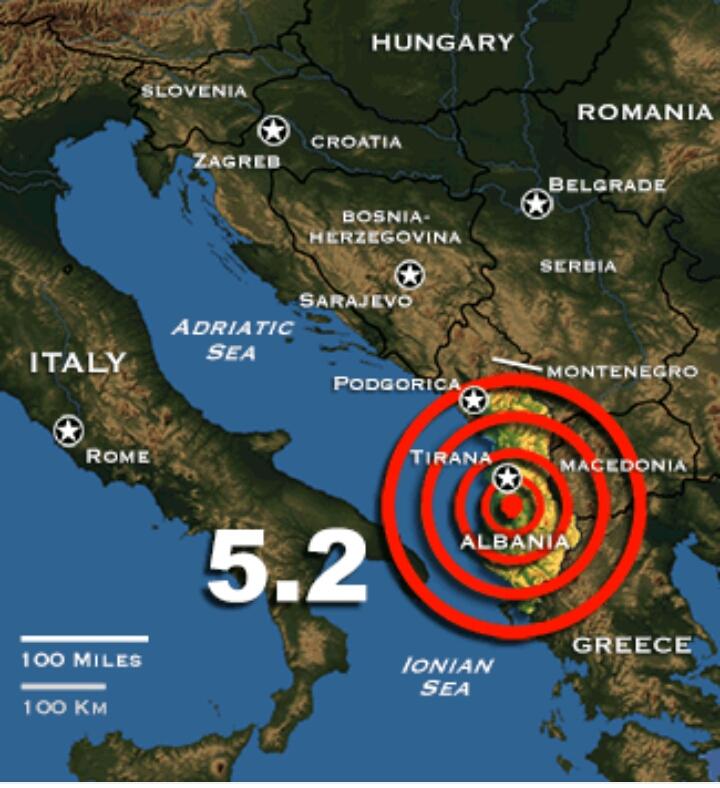 Terremoto Albania, forte scossa 5.2 gradi, avvertita anche in Puglia