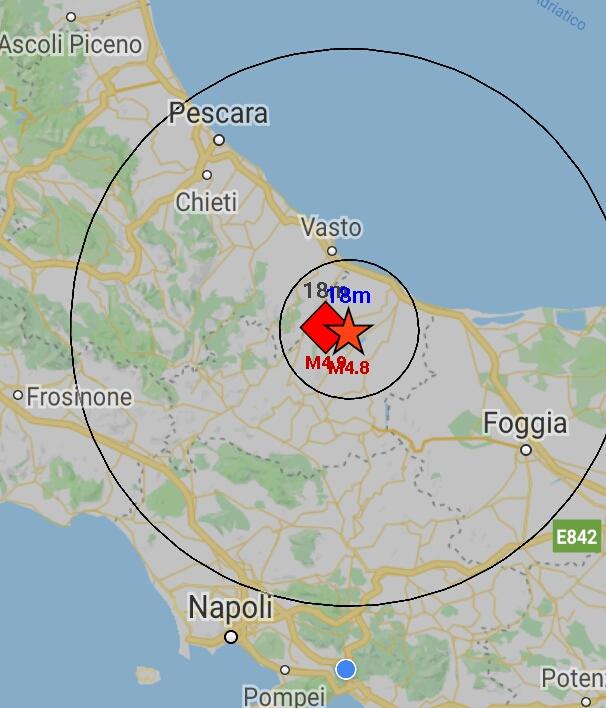 Terremoto Molise, forte scossa di 5.2 gradi