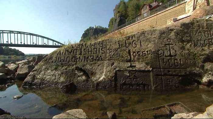 """Siccità: in Germania e Repubblica Ceca emergono le """"pietre delle fame"""""""