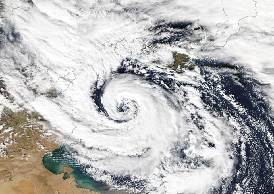 Grecia flagellata dal ciclone mediterraneo Zorbas, si contano i danni