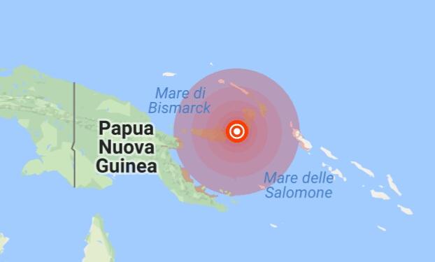 Scossa violentissima in Papua Nuova Guinea, si teme tsunami
