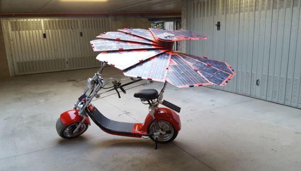 Realizzato il prototipo di uno scooter solare, il progetto è italiano