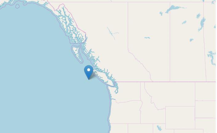 Terremoti M 6.6 e 6.7 al largo del Canada, avvertiti anche negli Usa