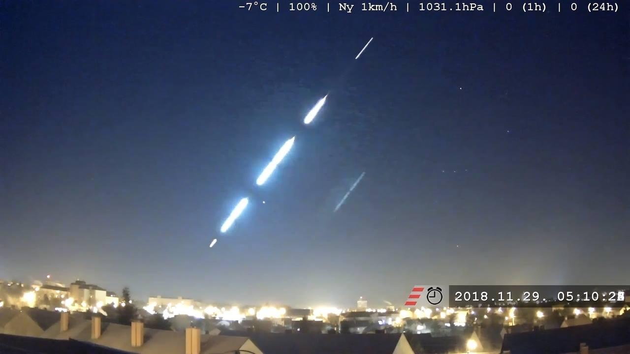 Bolide spaziale illumina i cieli in Europa centrale: segnalazioni anche in Italia