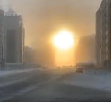 Siberia: l'alba a – 50 gradi in Yakuzia, il video