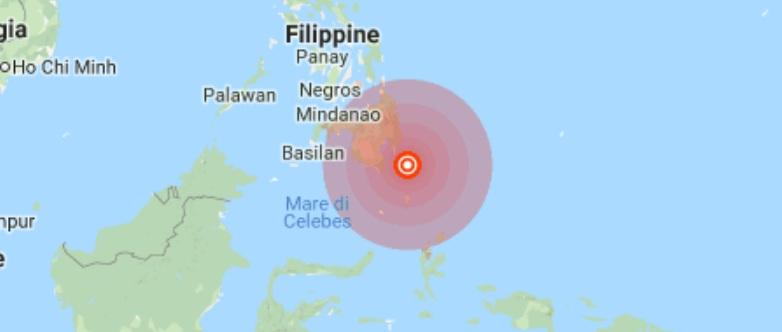 Terremoto Filippine: scossa magnitudo 7 gradi