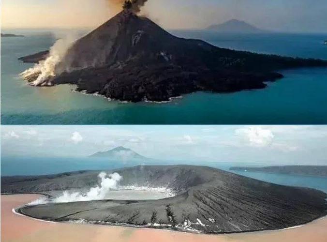 Anak Krakatau: il vulcano ha perso 150 milioni di metri cubi di roccia