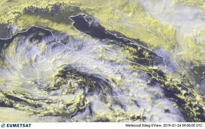 Ciclone Klaus in arrivo al Sud: maltempo e freddo nelle prossime ore
