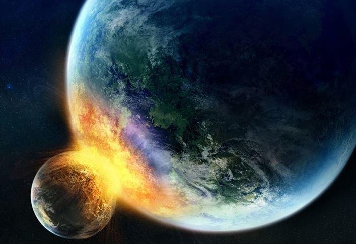 Una collisione planetaria ha portato la vita sulla Terra