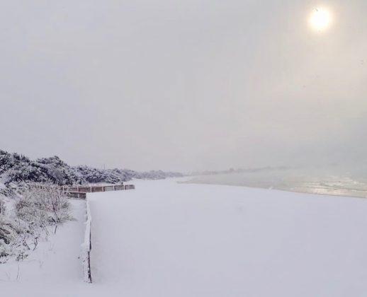 Porto Cesareo: pericoloso 'sea smoke' sul mare