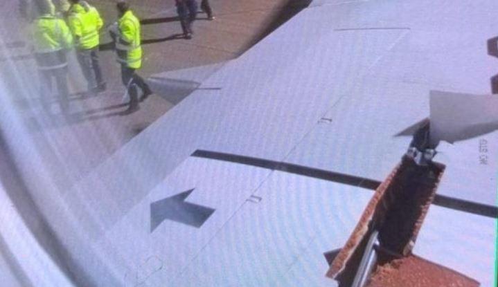Paura su volo Ryanair: squarcio sull'ala, atterraggio di emergenza