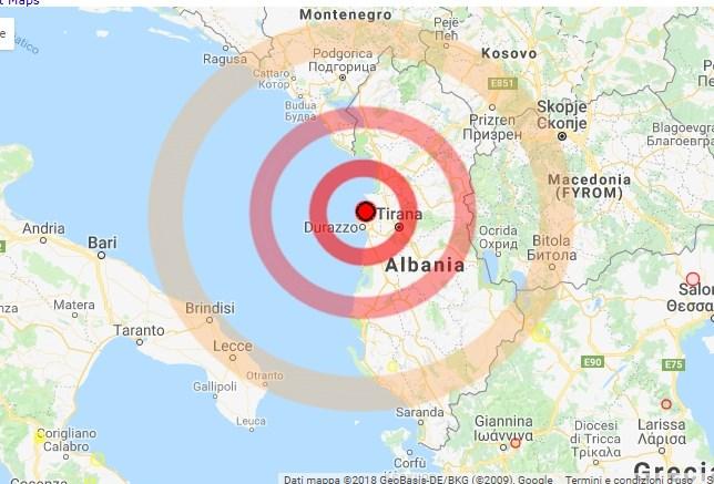 Terremoto Albania, scossa avvertita in Puglia