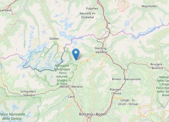 Terremoto Trentino Alto Adige, scossa a Moso in Passiria
