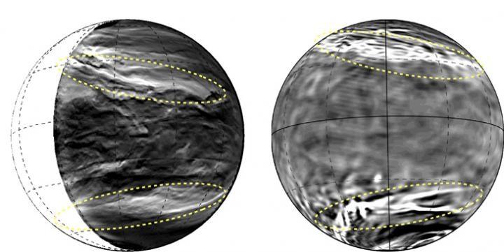 Venere: colossale struttura a strisce nei cieli del pianeta