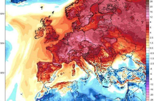 Anomalia climatica in Europa: temperature record quasi ovunque