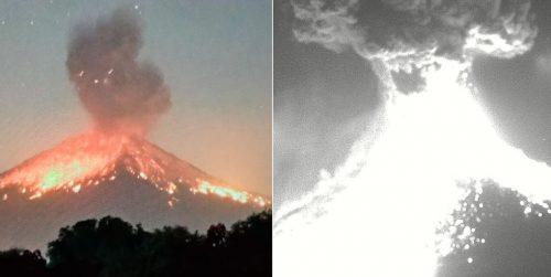 Nuova potente eruzione del vulcano Popocatepetl: frammenti incandescenti provocano incendi