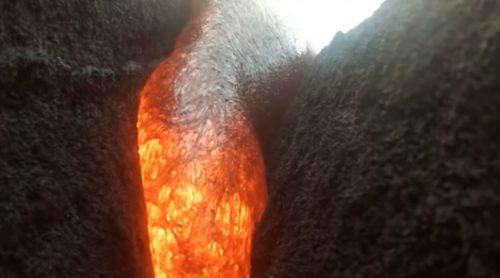 Videocamera precipita in vulcano e viene inghiottita dalla lava. Il video