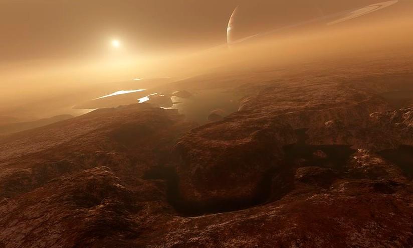 Titano: scoperto colossale tunnel di ghiaccio