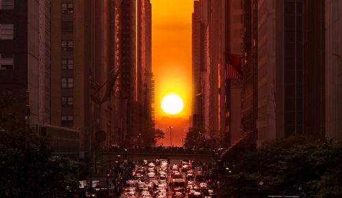 Manhattanhenge, l'origine dello spettacolare tramonto di New York