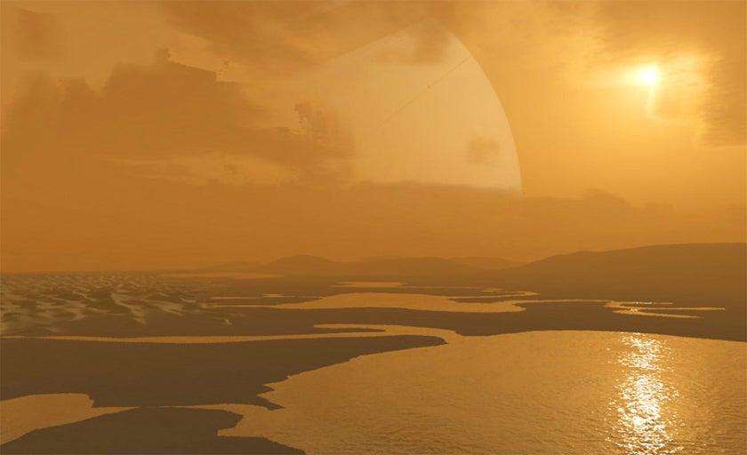 Spazio: su Titano anelli di cristallo circondano i laghi