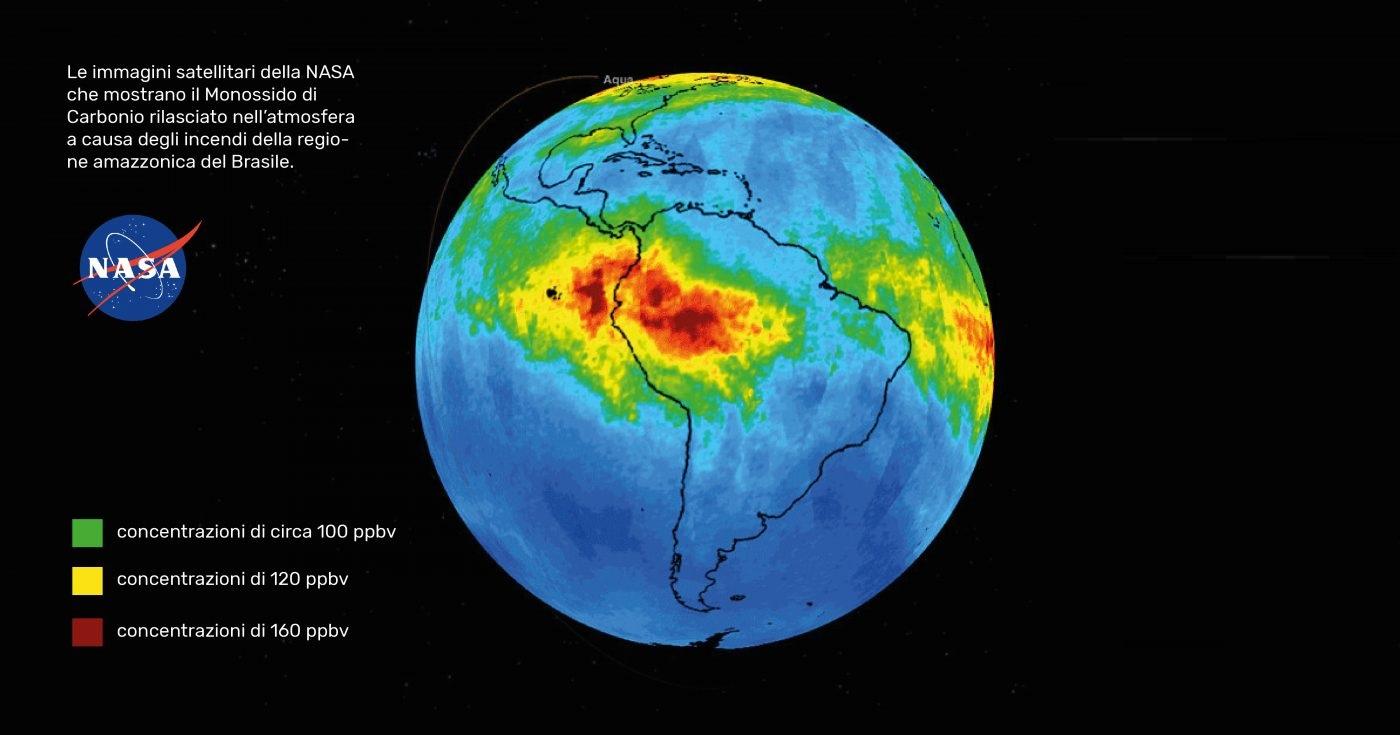 Amazzonia: i disastrosi effetti per l'atmosfera degli incendi