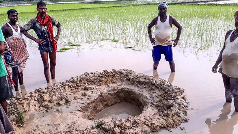 India: meteorite precipita in campo di riso