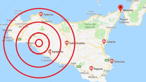 Terremoto Sicilia: paura e gente in strada in provincia di Agrigento