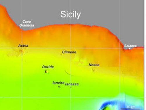 Scoperti sei vulcani sottomarini vicino alle coste della Sicilia