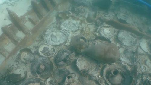 Spagna: oltre 100 anfore scoperte in un relitto di 1.700 anni fa