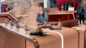 Galaxy Note 9 si incendia spontaneamente in un negozio. Il filmato
