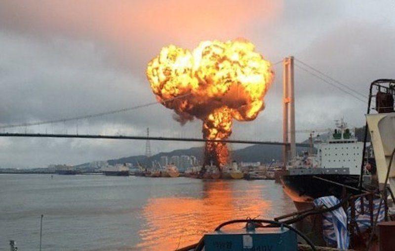 Corea del Sud: esplodono due petroliere nel porto di Ulsan. Il video