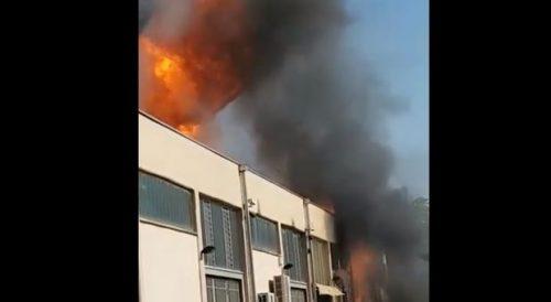 Brucia fabbrica di cannabis a Trezzano sul Naviglio: feriti i titolari