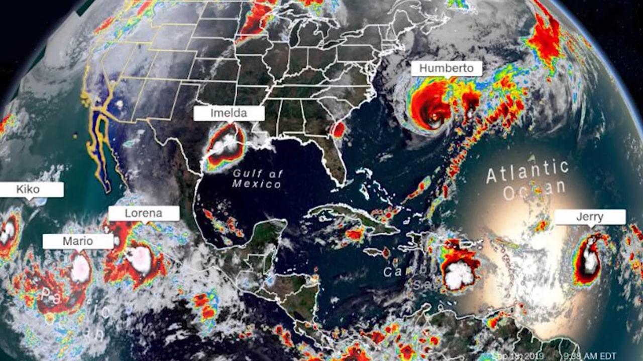 Meteo: si formano sei tempeste contemporanee: è record