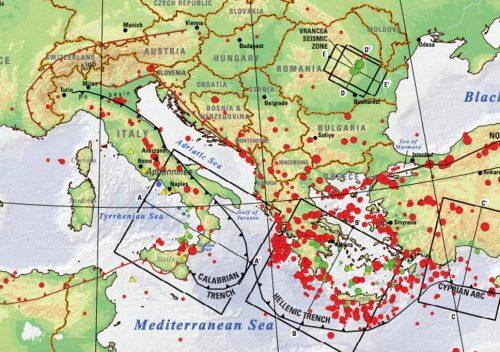 Terremoti: escalation di scosse sismiche nel Mediterraneo