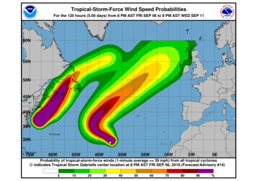 Dorian e Gabrielle: due uragani verso l'Europa