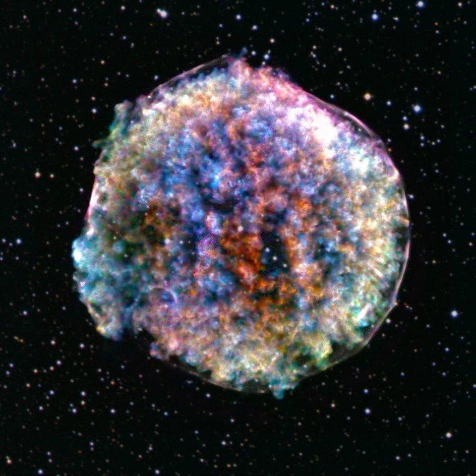 Nuova immagine della Tycho, la supernova che illuminò il cielo nel 1527
