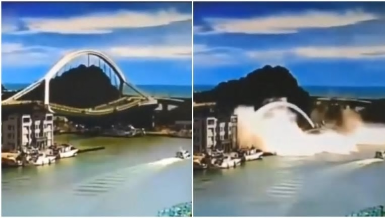Taiwan: crolla il ponte di Nanfangao. Feriti e dispersi. Il video