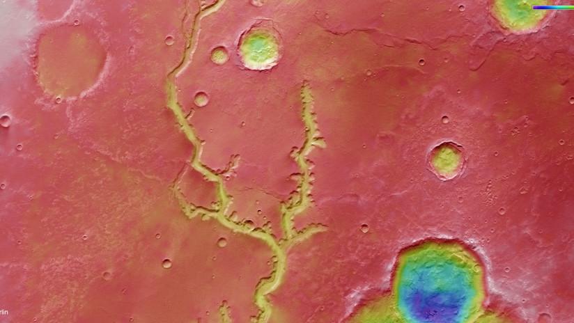 Marte: una vasta rete di fiumi scoperta sul pianeta rosso