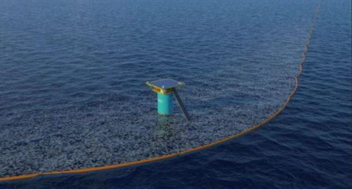 Lo spazzino degli oceani funziona: la barriera galleggiante sta raccogliendo rifiuti