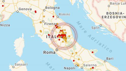 Terremoto Centro Italia: scossa intensa tra Abruzzo e Lazio