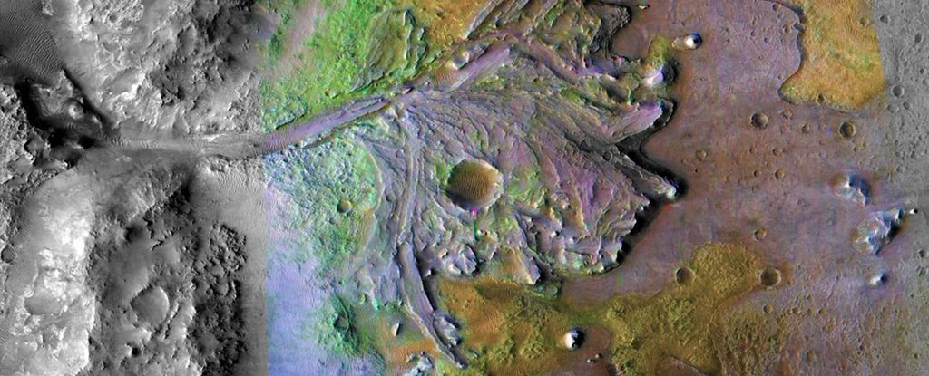 Marte: il lago Jazero è il luogo perfetto per scoprire antichi fossili