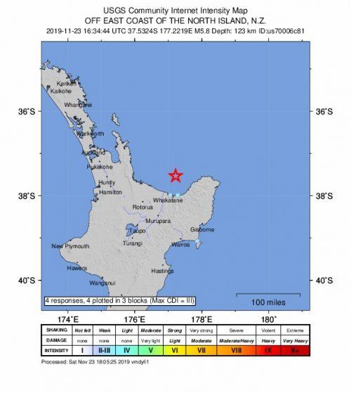 Terremoto Nuova Zelanda: forte scossa nell'Isola del Nord
