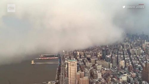 Snow squall inghiotte New York. Il video