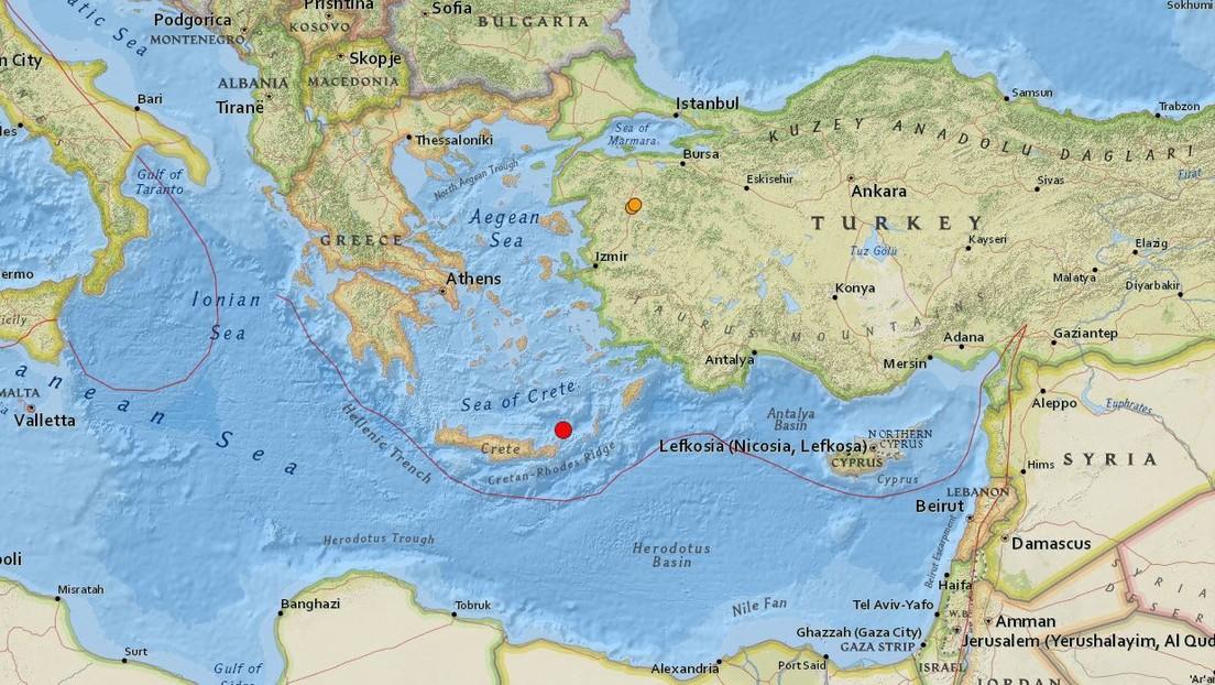 Terremoto Grecia: violenta scossa in mare